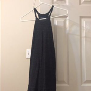 Black sleeveless peplum dress